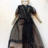 Antique German China Head  Doll 1850s ab