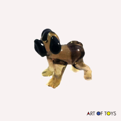 glass miniature dog