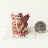 Rose Fairy Little Critterz with dime
