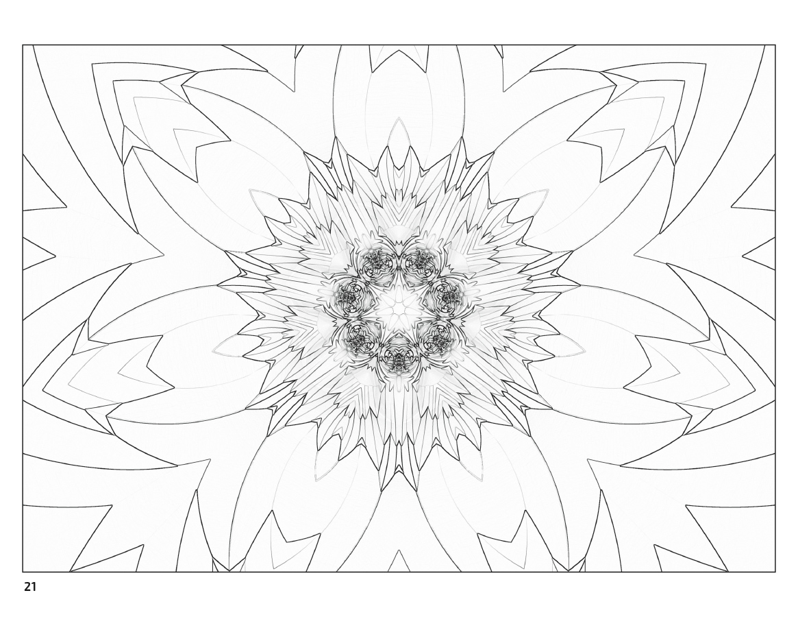 Fractal Art Coloring Book - Art of Toys