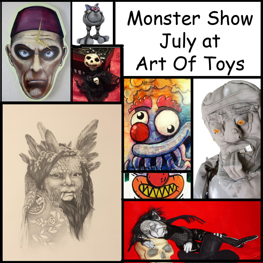 Monster Show July Art Of Toys