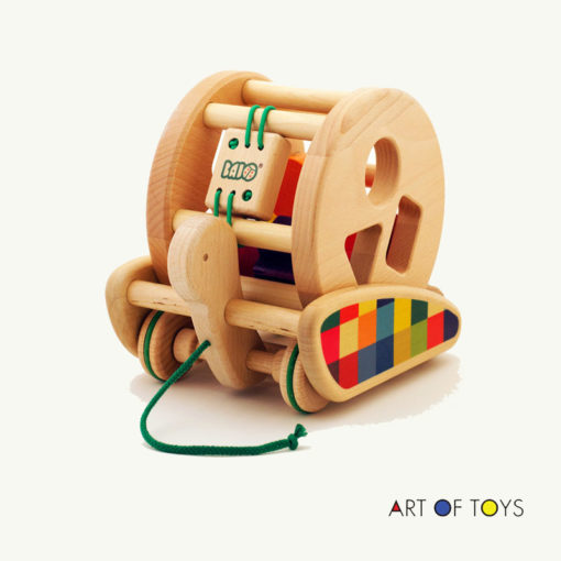 Polish wood preschool toy