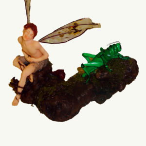 Lisa Owens Fairy Doll Art Davyn  and the Grasshopper