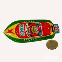 Tin Boat Whistle Star Racer 1950