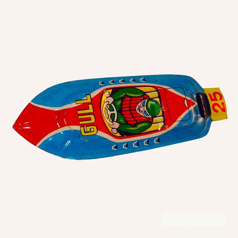 Tin Gull Racer Whistle 1950s