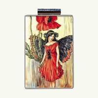 Red Poppy Fairy Mahjong Necklace