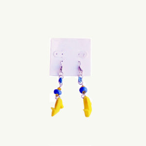 media mixed earring