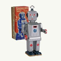 Schylling Sparkling Mike Walking Tin Robot
