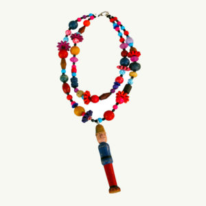 Lori Kirsch Wood Toy Soldier Necklace