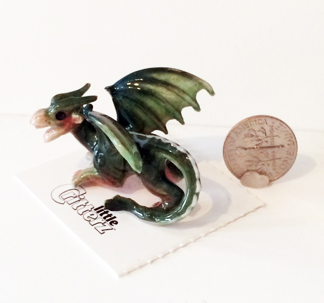 Draco Western Dragon with dime
