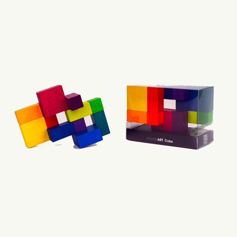 wood puzzle cube