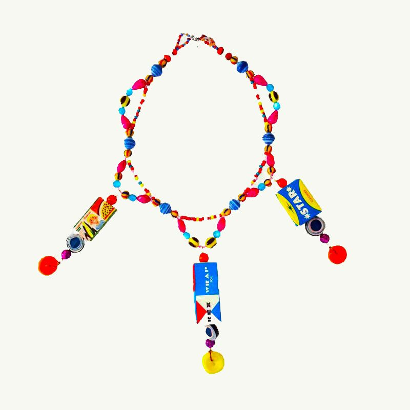 toy art necklace