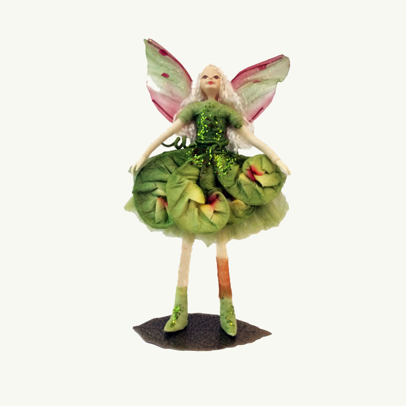 Green Lily Fairy Doll Ornament