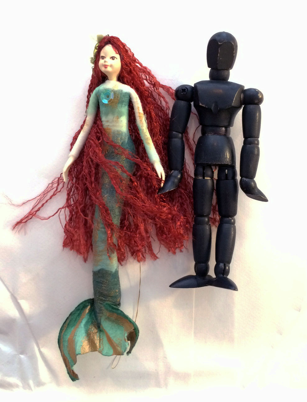 Redhead Mermaid Doll Ornament & Logo