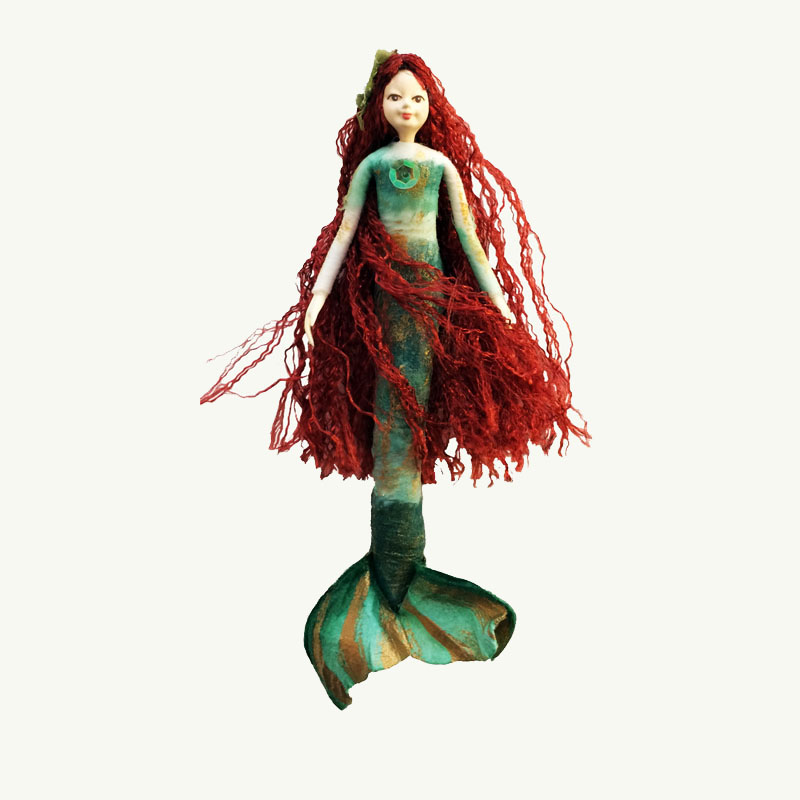 Redhead Mermaid Doll Ornament
