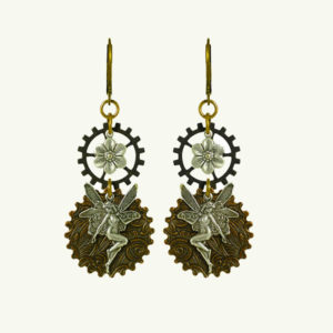 NoMonet Steampunk Fairy Earrings