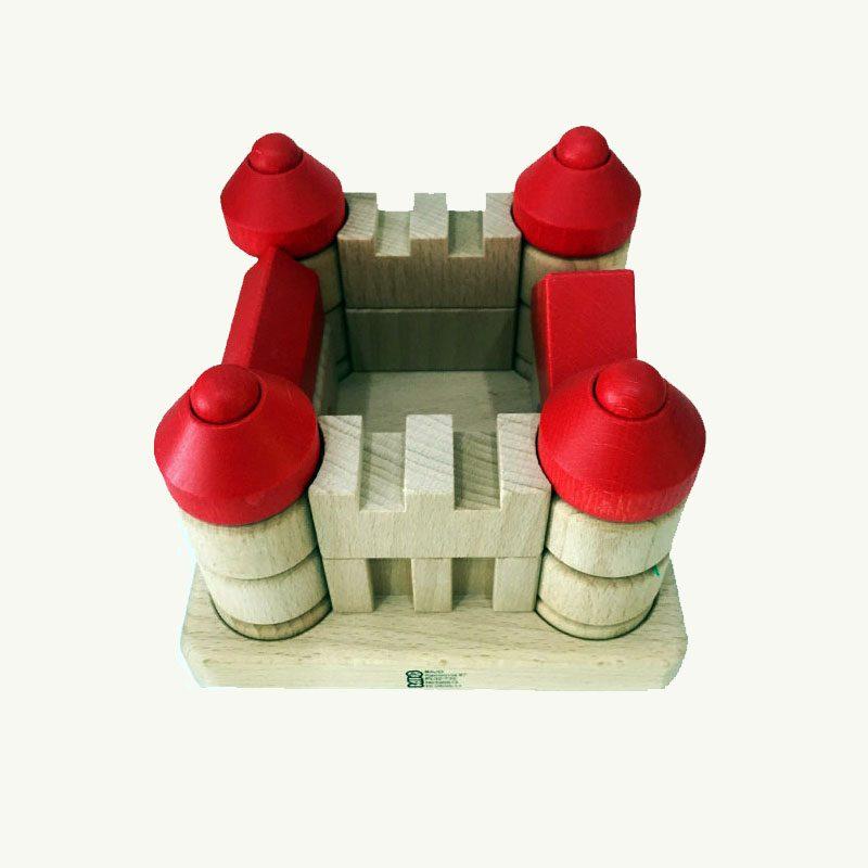wood castle toy
