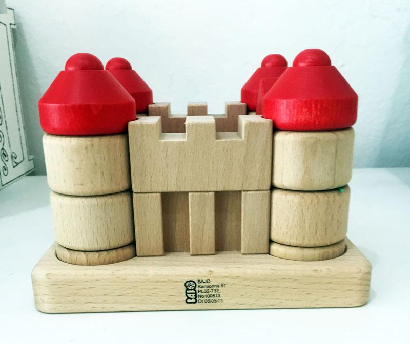 Bajo wood castle blocks