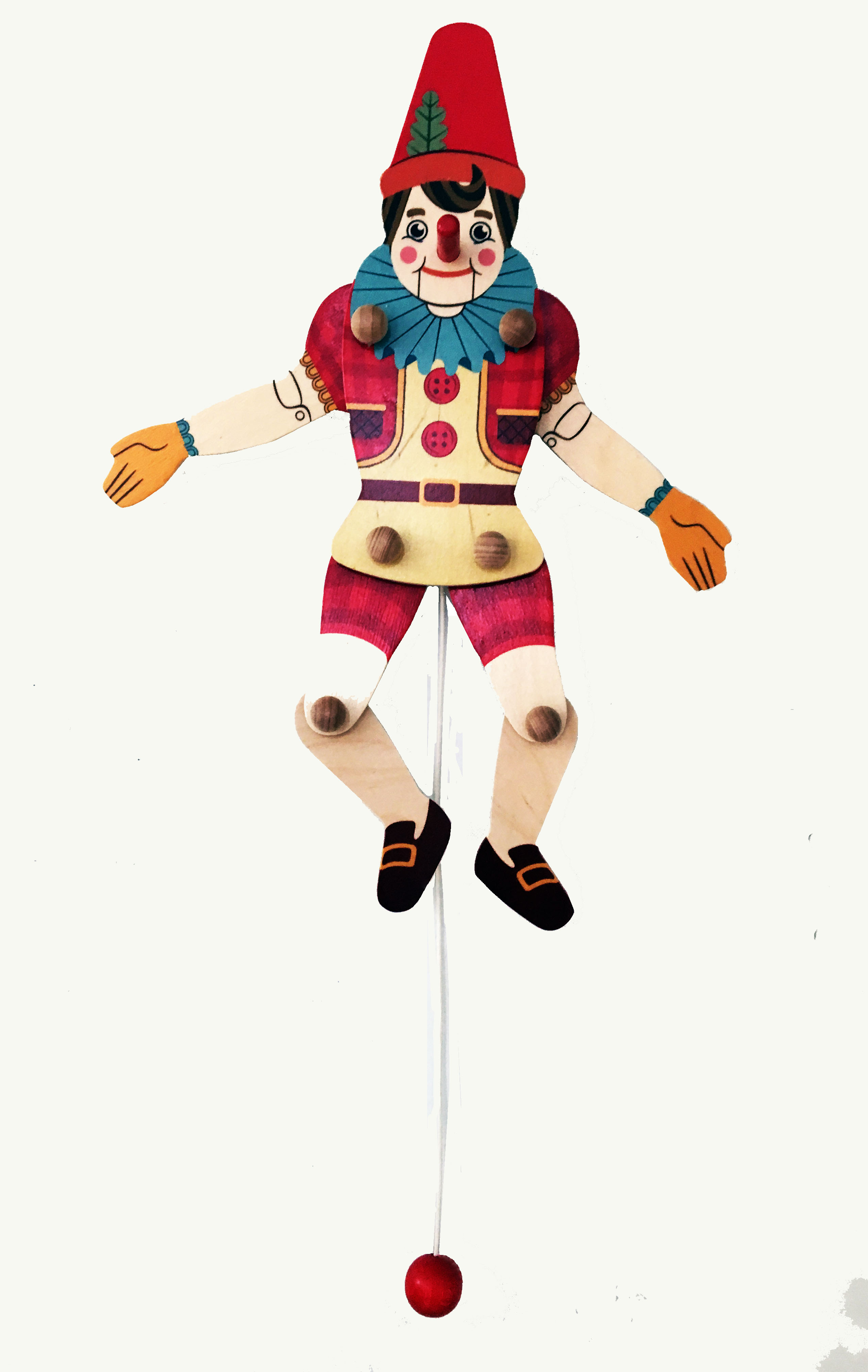 pinocchio wood pull puppet