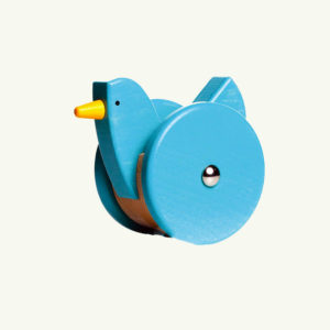 Bajo Push and  Pull Bird Blue
