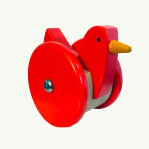 Bajo Push and Pull Bird Red