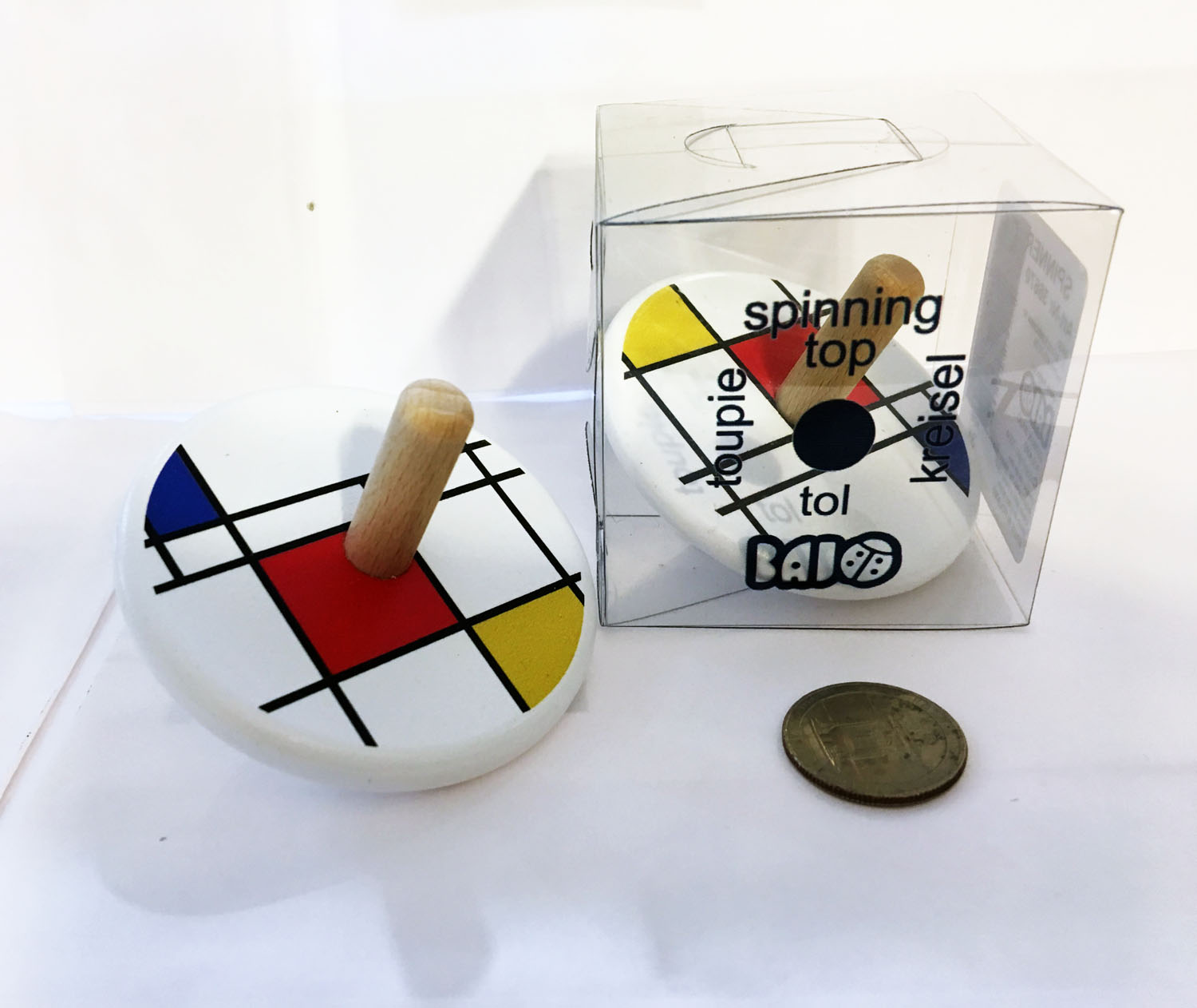 wood mondrian top with size quarter