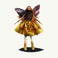 Gold Jewel Fairy Doll Ornament