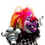 scary clown art toy