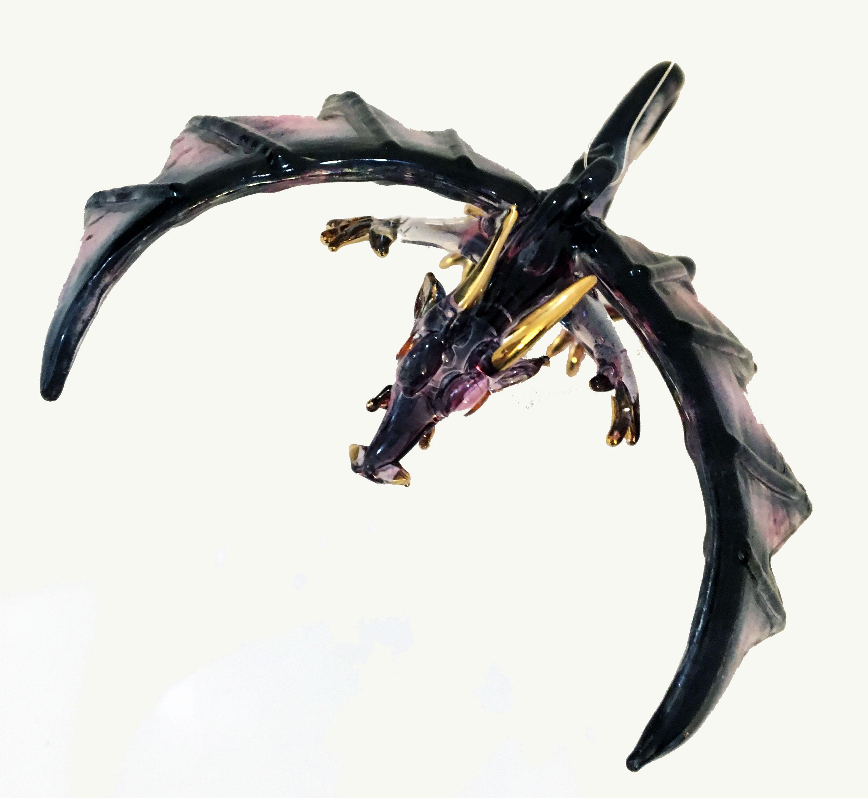 glass dragon ornament