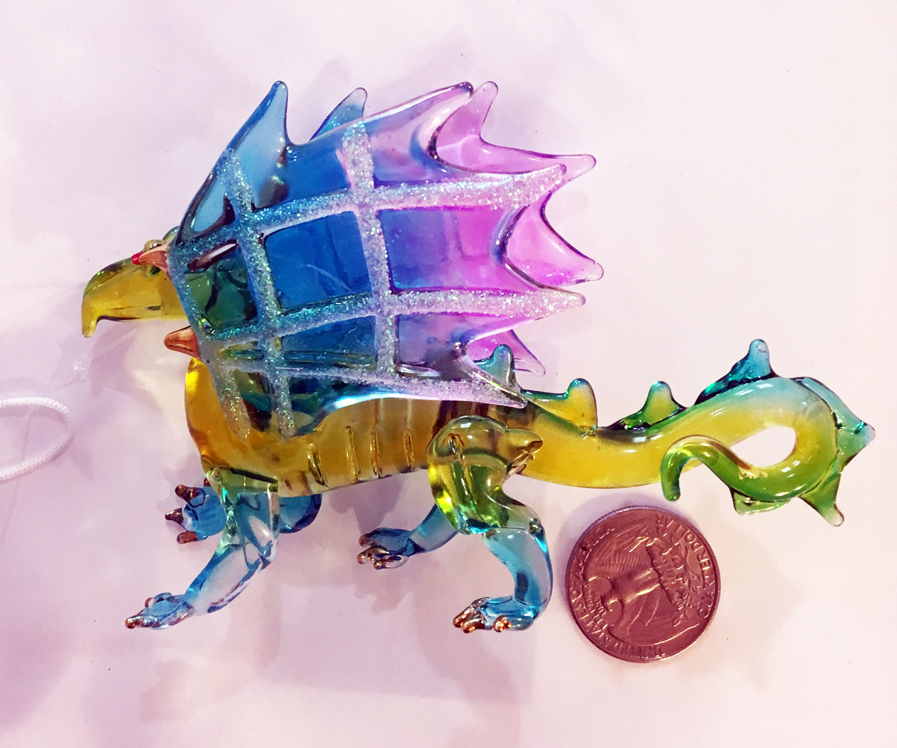 glass dragon ornament