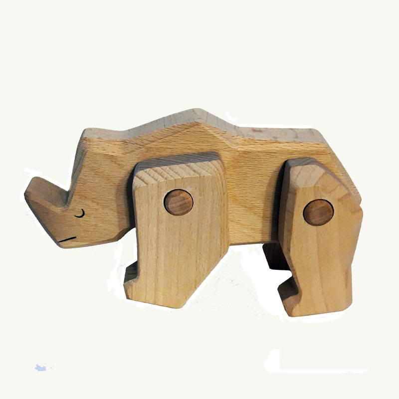 Rhino TOBE Wood Endangered Animal