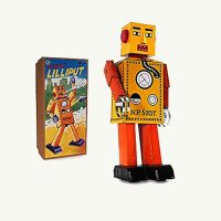Robot Lilliput Tin Windup Collectable NP5357