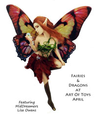 Fairies and Dragons at Art Of Toys April