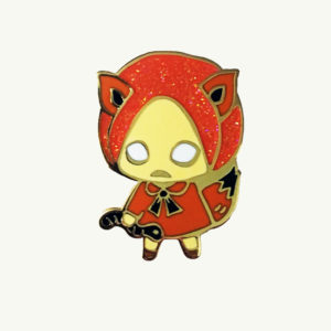 Orange Fox Julie Okahara Forest Friends Pin