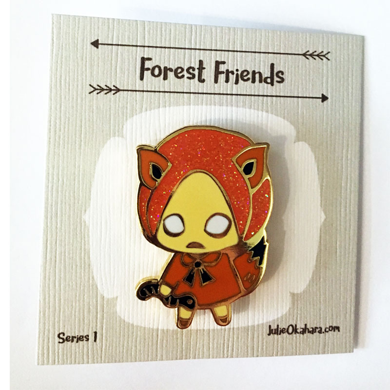 fox pin on card