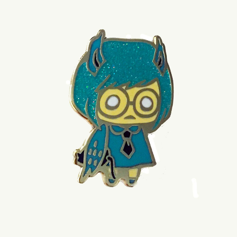 Owl Forest Friend Pin by Julie Okahara