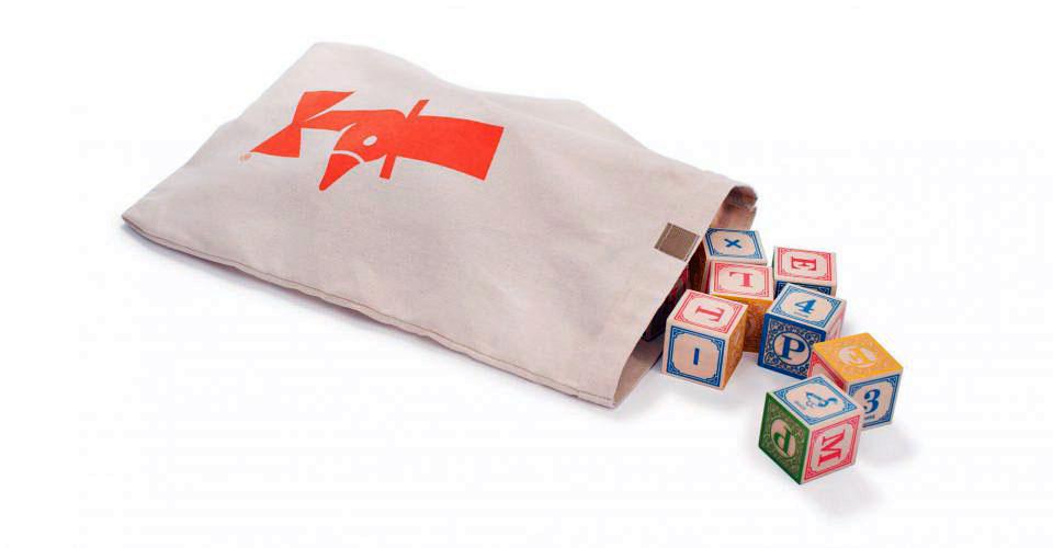 ABC Wood blocks in bag