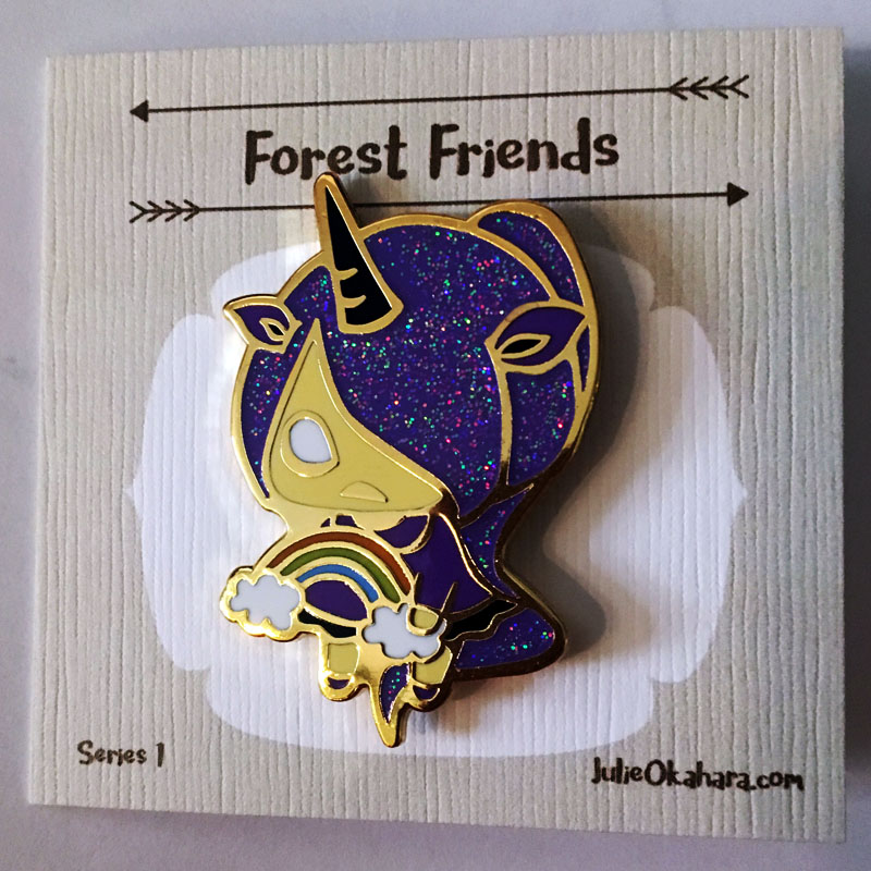 Unicorn Forest Friends Pin by Julie Okahara