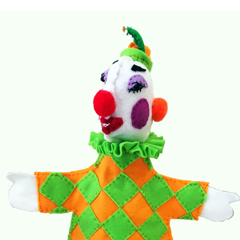 Clown Face hand puppet