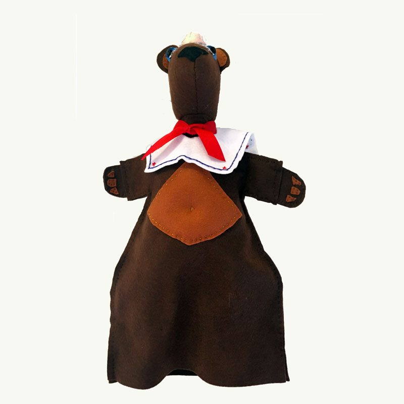 Baby Bear hand puppet by sis