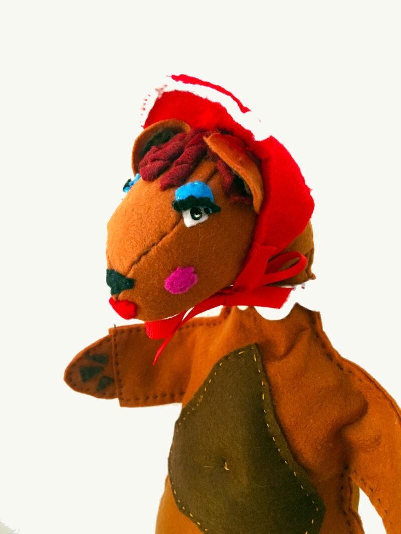 Mama bear hand puppet