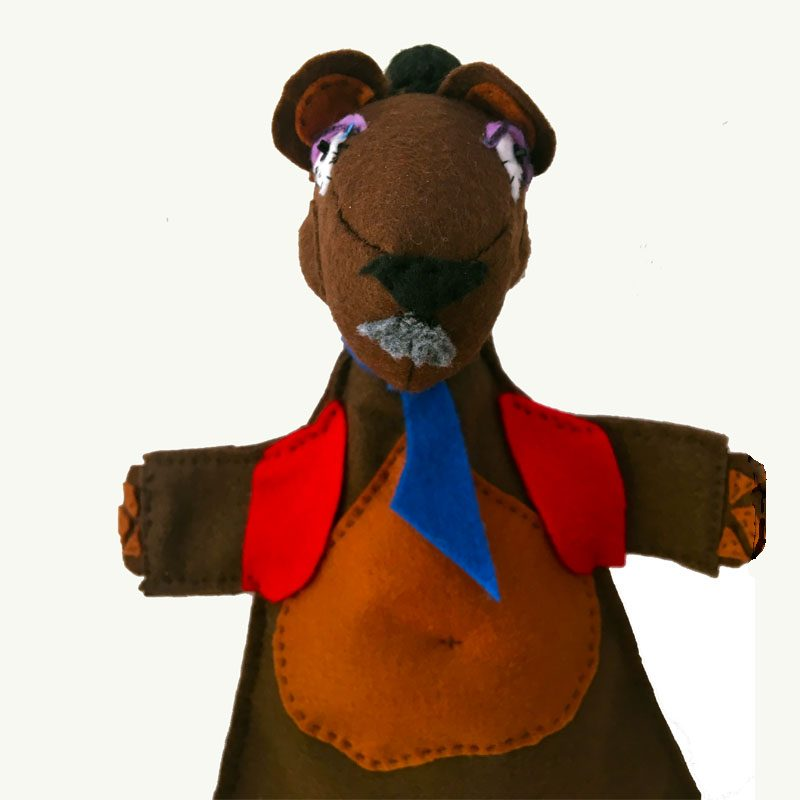 Papa Bead Hand Puppet by Sis