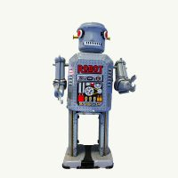 Mechanical Big Eye Tin Wind Up Toy