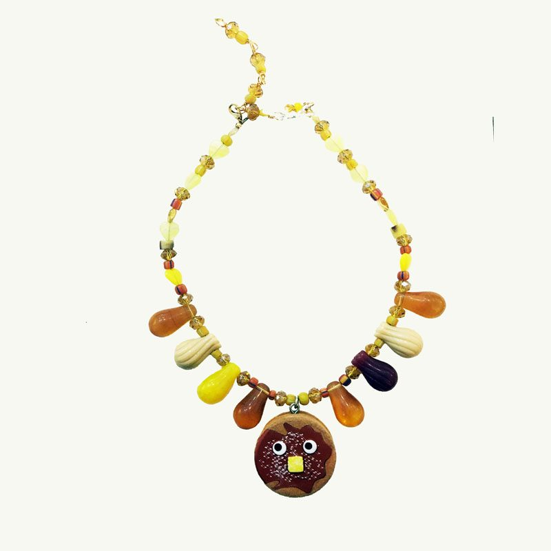 Pancake Original Toy Art Necklace by Lorrain Garcia