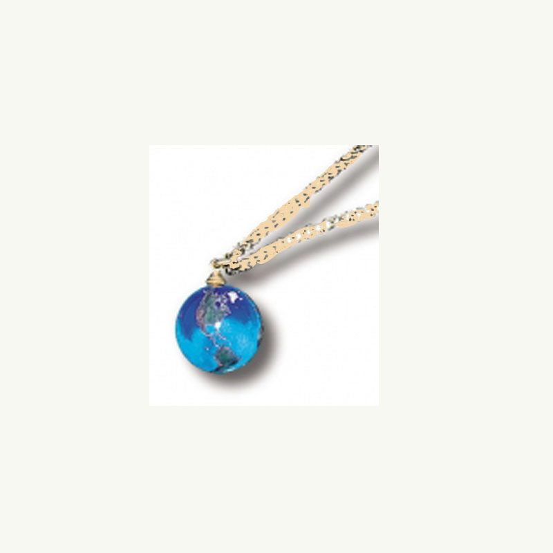 Blue Earth Pendant Necklace by Shasta Vision