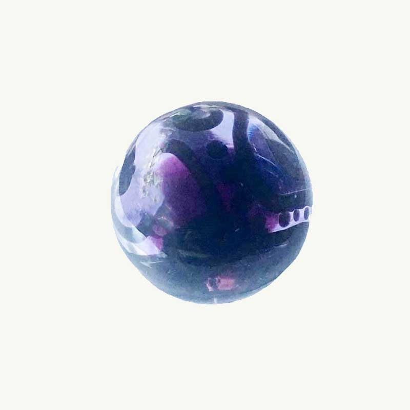 Purple Doodle Marble by Polly Toombs