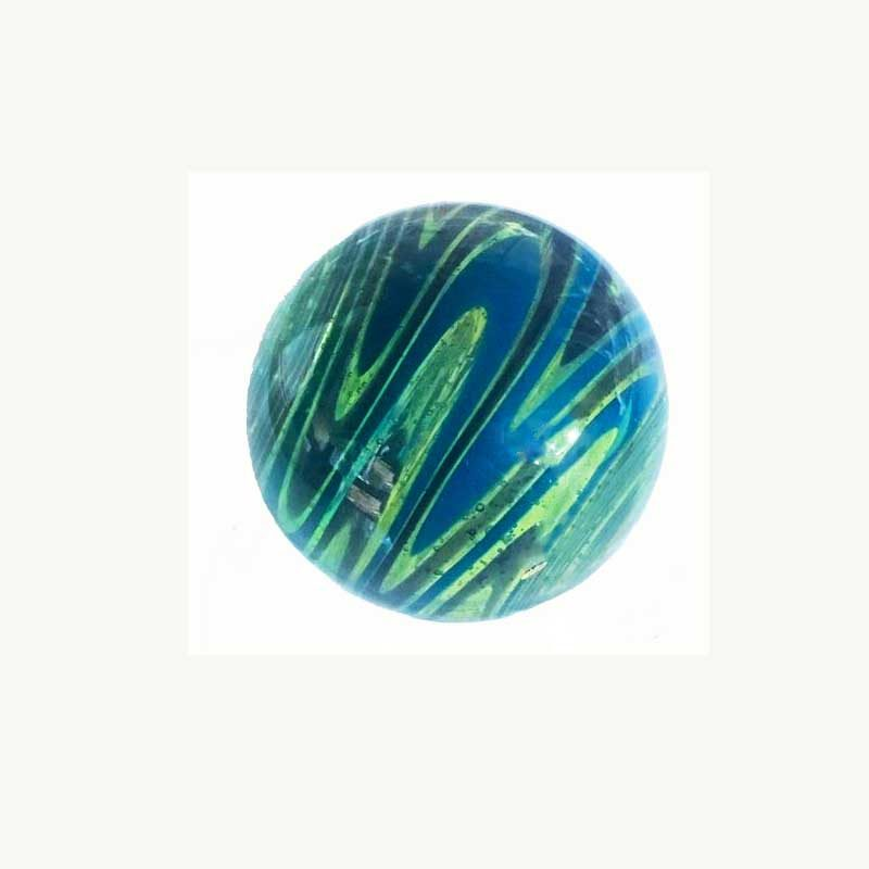 Wigwag Green and Aqua Art Marble by Polly Toombs