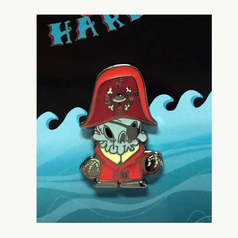 Dark Harbor Dread Pirate Kathie Olivas & Brandt Peters Enamel Pin