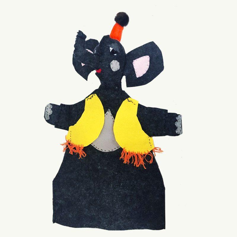 Circus Elephant Handpuppet by Sis