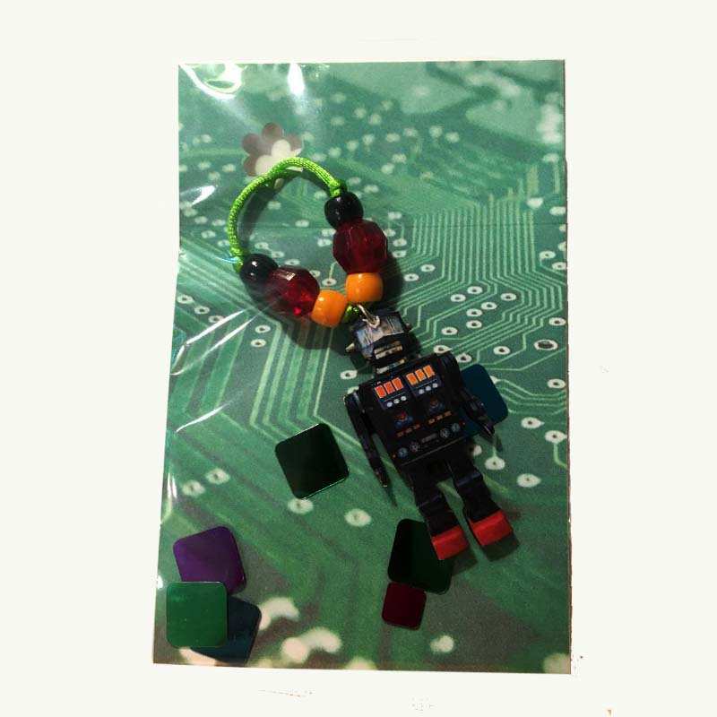 Black Robot Necklace package